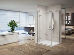 Box doccia angolare con porta a battenteGALA G+F - NOVELLINI