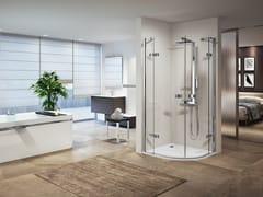 NOVELLINI, GALA R Box doccia angolare semicircolare con porta a battente