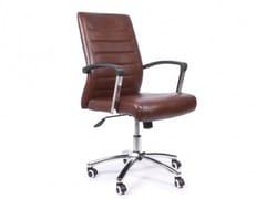 Sedia ufficio ad altezza regolabile in ecopelle con ruoteGALANTE - ARREDIORG