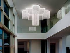 Lampada da soffitto a LED modulare con cristalliGALASSIA O1 SNG - MASIERO