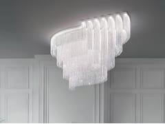 Lampada da soffitto a LED in cristallo con dimmerGALASSIA R2 SNG - MASIERO