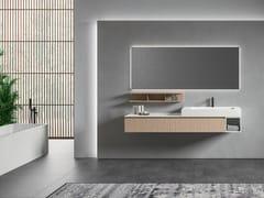 Mobile lavabo laccato sospeso in legno con specchioGALAXY 04 - BMT