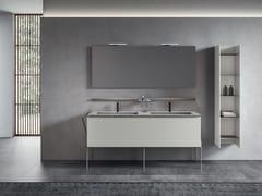 Mobile lavabo doppio laccato con specchioGALAXY 06 - BMT