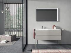 Mobile lavabo laccato singolo con cassettiGALAXY 09 - BMT