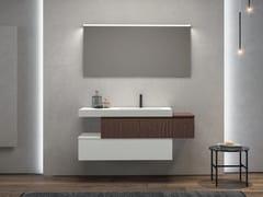 Mobile lavabo sospeso in legno con cassettiGALAXY 11 - BMT