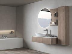 Mobile lavabo sospeso in legno con armadioGALAXY 13 - BMT