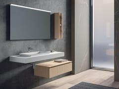 Mobile lavabo laccato sospeso con specchioGALAXY 14 - BMT