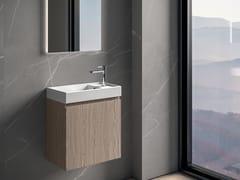Mobile lavabo da terra singolo con specchioGALAXY 19 - BMT