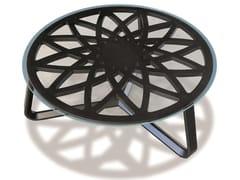 Tavolino rotondo in legno e vetroGALILEO | Tavolino - CARPANELLI