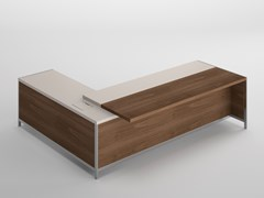 Scrivania direzionale in legno impiallacciatoGALLERY   Scrivania ad angolo - OFIFRAN