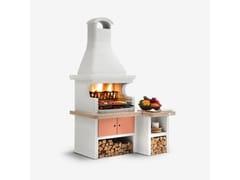 Barbecue a carbonella a legna in cementoGALLIPOLI - PALAZZETTI LELIO