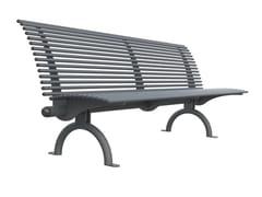 Panchina in acciaio con schienaleGALLIPOLI   Panchina con schienale - LAZZARI SRL