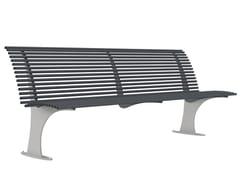 Panchina in acciaio zincato con schienaleGALLIPOLI S - LAZZARI SRL