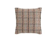 Cuscino a quadri in fibra sintetica in stile moderno da terra per esterni GARDEN LAYERS TERRACOTTA | Cuscino quadrato - Garden Layers