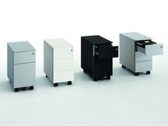 Cassettiera ufficio modulare con ruote con serraturaGATE | Cassettiera ufficio - BRALCO
