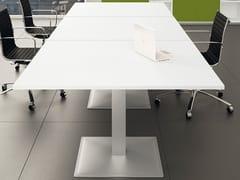Tavolo da riunione modulare quadrato in alluminioGATE | Tavolo da riunione modulare - BRALCO