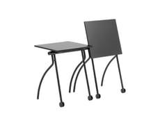 Tavolino monoposto con piano ribaltabile e accatastabileGATE TRAINING - MARA