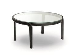 Tavolino rotondo in legno e vetroGENEA COFFEE TABLE GLASS TOP - PASSONI
