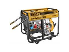 INGCO ITALIA, GENERATORE CORRENTE DIESEL 5kW MONOFASE/TRIFASE GDE50003 Generatore di corrente
