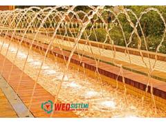 Fontana a pavimento multigetto in metallo su misuraGENERATORE DI FLUSSO AD ASSETTO VARIABIL | Fontana a pavimento - WED