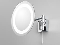 Specchio ingranditore rotondo con illuminazione integrataGENOVA - ASTRO LIGHTING
