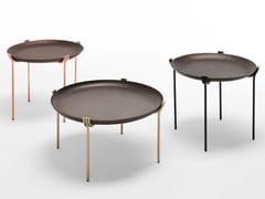 Tavolino rotondo in metallo con vassoioGEO   Tavolino - SABA ITALIA