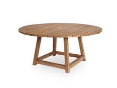 Tavolo da giardino rotondo in teakGEORGE TABLE - SIKA-DESIGN