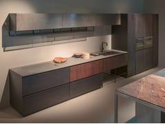 Cucina lineare con maniglie integrateGHOST - XERA BY AREX