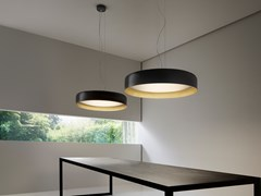 Lampada a sospensione a LED a luce diretta e indirettaGINEVRA | Lampada a sospensione - PANZERI