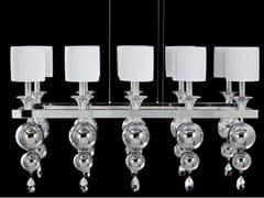 Lampada a sospensione a luce indiretta con cristalliGINEVRA | Lampada a sospensione con cristalli - AIARDINI ILLUMINAZIONE