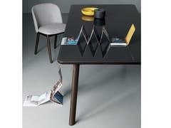 Tavolo rettangolare in legno e vetro GINGER   Tavolo in legno e vetro -