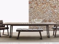 Tavolo da giardino rettangolare in teakGIO | Tavolo da giardino - B&B ITALIA OUTDOOR, A BRAND OF B&B ITALIA SPA