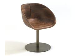 Sedia girevole in legno GIOCONDA -