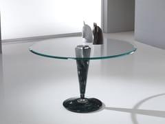 Tavolo rotondo con base in Crystal Stone® e top in cristalloGIOTTO - BALLARINI