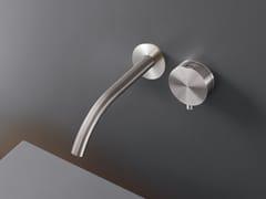 Miscelatore per lavabo a 2 fori a muro in acciaio inoxGIOTTO PLUS 78 - CEADESIGN