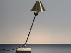 Lampada da scrivania a LED orientabile in acciaio cromatoGIRA - SANTA & COLE NEOSERIES