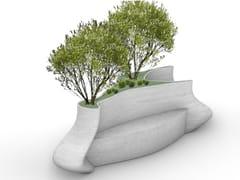 Concreative, GIRAFFE Panchina in calcestruzzo con fioriera integrata