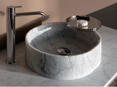 Lavabo da appoggio rotondo in marmo GIRO | Lavabo rotondo - Giro