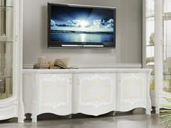 Mobile TV in legno con ante a battenteGIULIETTA | Mobile TV - LINEA & CASA +39