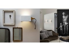 Applique a LED a luce diretta in ceramicaGIUSPINA - KARMAN