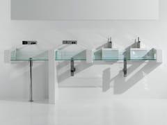 Lavabo da appoggio rettangolare in vetro GLASS | Lavabo da appoggio - Glass