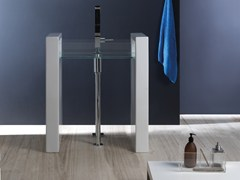 Lavabo freestanding rettangolare in vetro GLASS | Lavabo freestanding - Glass