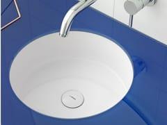 Lavabo da incasso sottopiano rotondo in Ceramilux® GLAZE | Lavabo -