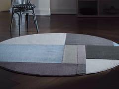 Tappeto fatto a mano rotondo in fibra sintetica in stile modernoGLOBE - BESANA MOQUETTE