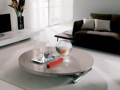 Tavolino ad altezza regolabile in cristallo GLOBE CR -