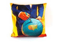 Cuscino quadrato in tessuto GLOBE | Cuscino - Seletti wears Toiletpaper