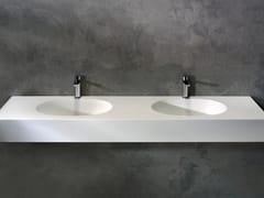 Lavabo da incasso sottopiano ovale in Solid SurfaceGLOW | Lavabo ovale - KAROL ITALIA