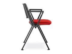 Sedia da conferenza imbottita in tessutoGO! 115-N1 + TP - LD SEATING