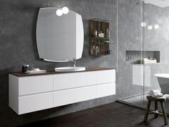 Mobile lavabo laccato in legno con cassettiGOLA 09 - ARCHEDA