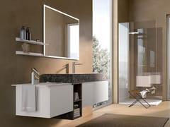 Mobile lavabo laccato in legno con specchioGOLA 12 - ARCHEDA